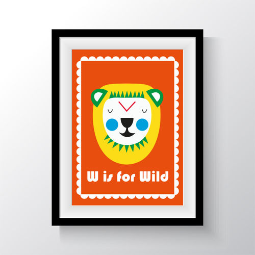"Print ""W is for wild"""