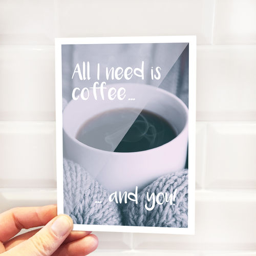 "Postkarte ""Coffee and You"""