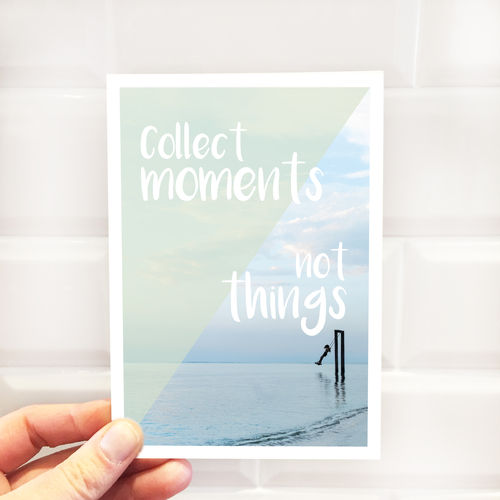 "Postkarte ""Collect moments"""